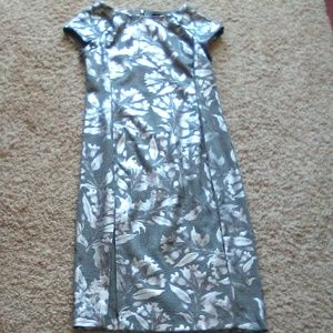 Silver Gray dress sz 4 by Beige by eci